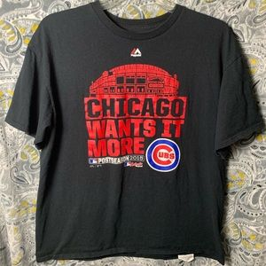 MAJESTIC Chicago Cubs Tee XL black